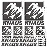 Knaus OLD XL Decal Wohnwagen Mobile home sticker 14 Pieces aus Hochleistungsfolie Aufkleber Autoaufkleber Tuningaufkleber von SUPERSTICKI® aus Hochleistungsfolie für alle glatten Flächen UV und Waschanlagenfest Tuning Profi Qualität Auto KFZ Scheibe Lack Profi-Qualität Tuning