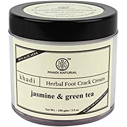 Khadi Jasmine and Green Tea Herbal Foot Crack Cream, 100gm