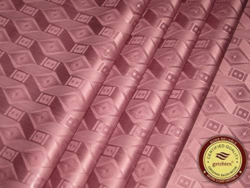 Laliva Bazin Riche Stoff (ähnlich wie Getzner), Meerschweinchenbrokat, 100% Baumwolle, Shadda mit Parfüm, Damast, ebenfalls erhältlich Dark reddish purple -