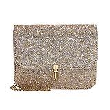 bc962dd238 Amlaiworld Donna Ragazze Fashion Catena metallica Borse a spalla con stelle  Bling (oro)