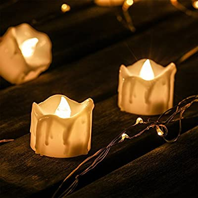 LED Candles Tealights, Kohree Flamess Realistic Flickering Electric Candles for Christmas, Birthday, Wedding, Party, Home Dinner Decor Battery Operated Pack of 12 from Kohree