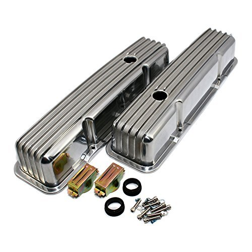 Preisvergleich Produktbild Assault Racing Produkte a6181SBC Chevy 350Retro Flossen poliert Aluminium hoch Ventiloberteile 327400