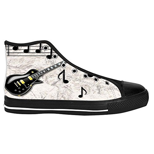Dalliy Music Note And Guitar Men's Canvas shoes Schuhe Lace-up High-top Sneakers Segeltuchschuhe Leinwand-Schuh-Turnschuhe C