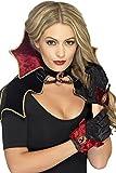 Smiffy's-43006 Kit de vampiresa de Fever, con Capa, Cuello y Guantes, Color Negro, No es Applicable (43006)
