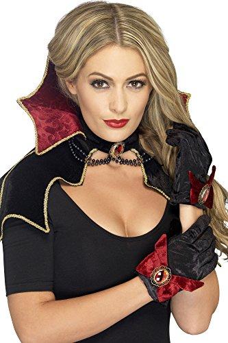Fever Damen Vampir Kit, Umhang mit Kragen und Handschuhen, One Size, 43006 (Machen Sie Ihre Eigenen Kostüm Kit)