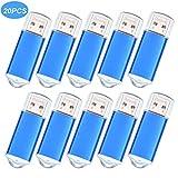 USB Flash Drive 128 MB PenDrive 20 Piezas Memorias USB - Portátil Pack Pen Drives 128MB Mini Unidad Flash USB 2.0 - Dispositivos Externos Llave USB Azul de Datarm