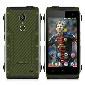 HOMTOM HT20 4.7 inch 4G Three-proofing Fingerprint Recognition Smartphone Android 6.0 Marshmallow MT6737 Quad Core 1.3GHz Mobile Phone 2GB RAM+16GB ROM Dual SIM Cellphone (Olive Green)