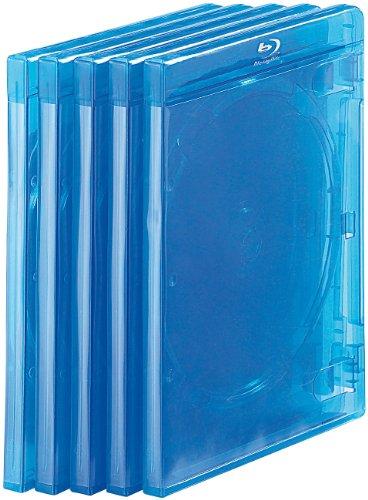 Unbekannt PEARL Blurayhüllen: Blu-ray Soft-Hüllen blau-transparent im 10er-Pack für je 2 Discs