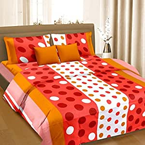 Cortina Cotton Double Bedsheet with 2 Pillow Cover (PDB-003-B)