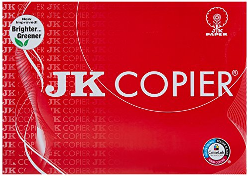 JK Copier Paper - A4, 500 Sheets, 75 GSM, 1 Ream For Rs. 200