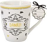 Sheepworld 59262 Lieblingstasse Danke, Cappuccino-Tasse, mit Geschenk-Anhänger
