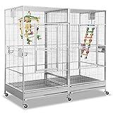 Montana Cages | Papageienkäfig, Voliere XXL, Käfig XXL, Arkansas II - Platinum VERSANDKOSTENFREI!
