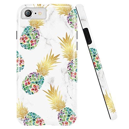 Doujiaz Schutzhülle für iPhone 5 / 5S / SE, Marmor-Design / Transparent, weiches TPU-Silikon (Iphone 5 Passenden Fälle Für Mädchen)