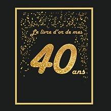 Amazon Fr Carte Anniversaire 40 Ans Livres