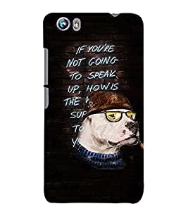 Fuson 3D Printed QuotesDesigner back case cover for Micromax Canvas Fire 4 A107 - D4160