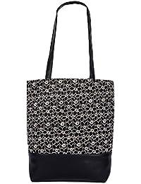 Womaniya Women's Handbag, (Material- Canvas, Jute) (Color- Multi-color)