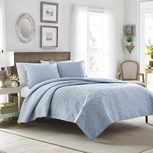 y Quilt Set, Breeze Blue, King Size ()
