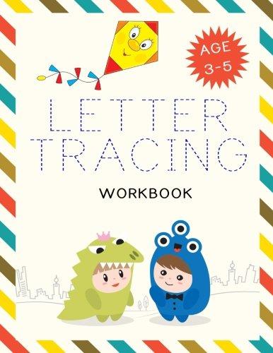 "Letter Tracing Workbook: Letter Tracing Practice Book For Preschoolers, Kindergarten (Printing For Kids Ages 3-5)(1"" Lines, Dashed)(V3)"