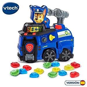 VTech- Chase camión Patrulla Canina Centro de Actividades Paw Patrol para Aprender Diferentes aspectos educativos con Placas policiales, más de 180 melodías, Canciones y Frases (3480-190322)