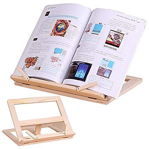 LISAY Book Stand, ipad Stand, Holzrahmen Lesung Bücherregal Halterung - Book Lesung Halterung...