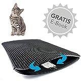 Haustierbote Premium Katzenstreumatte - Wasserdichte Katzenklo Unterlage mit effizientem Bienenwabendesign - 75x55cm