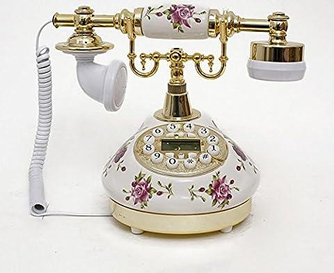 européen rétro Boutique téléphone fixe antique téléphone antique téléphone Creative Pastoral en céramique téléphone