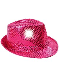 ca550ce8b19dce LED Party Lights Club Glittery Sequin Fedora Trilby Hat Glitzerhut Glitter  Disco Blink