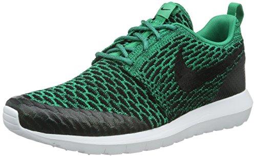 Nike Roshe Nm Flyknit Se, Scarpe da Corsa Uomo Verde (Lucid Green/Black-White)