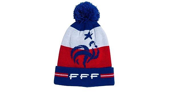 dc0d0a1bef2 Equipe de FRANCE de football Bonnet Pompon FFF - Collection Officielle  Taille Enfant garçon  Amazon.fr  Sports et Loisirs
