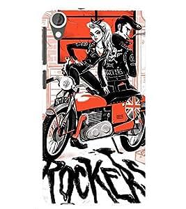 printtech Rockers Back Case Cover for HTC Desire 820::HTC Desire 820Q::HTC Desire 820S