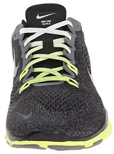 Nike Free 5.0 TR Fit 4 Print Damen Fitnesssschuhe Grau (Medium Ash/Black-Ivory-Volt)