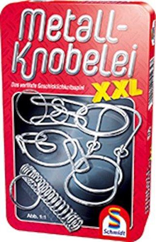 Schmidt-Spiele-51234-Metall-Knobelei-XXL-in-schner-Metalldose
