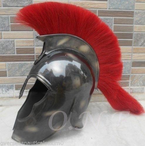 ANTIQUENAUTICAS Helm Troja Rüstung mittelalterlichen Griechischen Rüstung Spartan Kostüm Film Rollenspiel Red Plum