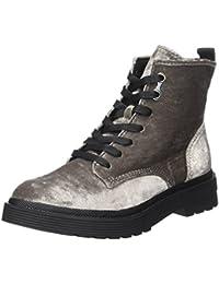 Calvin Klein Damen Annie Velvet Combat Boots