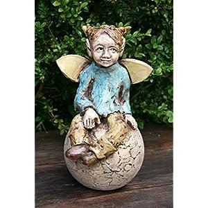 Keramik Elfe, Fee, Gartenfigur, Beetstecker