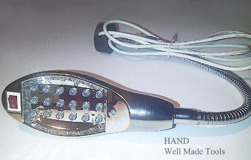 HAND ® Nähmaschine Arbeit Schwanenhals-Lampe + 18 LED-Licht! Mit Magnetic Halterungssockel