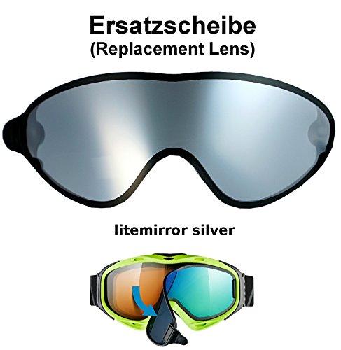 uvex comanche TO off ess Ersatzscheibe für Skibrille comanche als take off - single lens litemirror silver