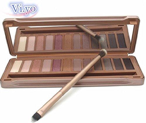 2ff787021261 Vi.yo paupières 12 Couleurs Brosse Set Palettes Fard Maquillage Waterproof  Durable Matte Makeup Palette