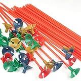 TRIXES 100 soportes multicolor para globos ideales para fiestas y celebraciones