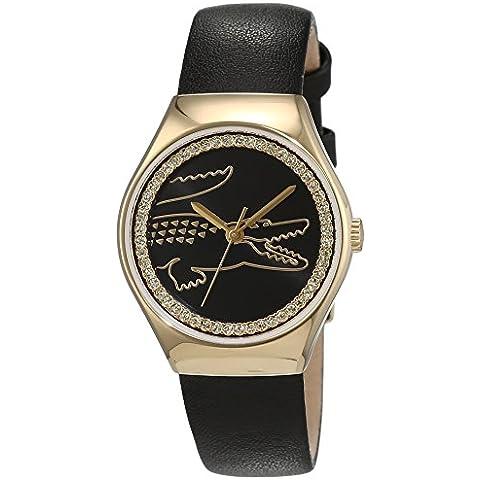 Lacoste mujer-reloj analógico de cuarzo de cuero medio Valencia 2000897