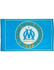 Drapeau OM - Collection officielle Olympique de MARSEILLE - Taille 100x150 cm