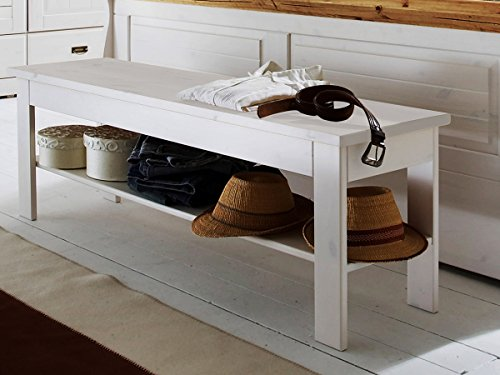 Bettbank 'Mailand-weiß' Kiefer weiß