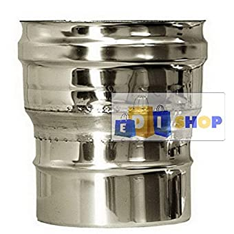 CHEMINEE PAROI SIMPLE TUYAU TUBE INOXIDABLE AISI 316 - dn 350 raccordo caldaia canna fumaria tubo acciaio inox 316 parete semplice