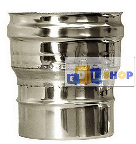CHEMINEE PAROI SIMPLE TUYAU TUBE INOXIDABLE AISI 316 - dn 450 raccordo caldaia canna fumaria tubo acciaio inox 316 parete semplice