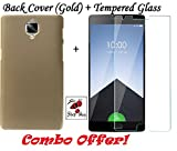 Shop Buzz Combo of Back Cover (Gold) and Tempered Glass for Oneplus 3 / 3T (Golden Back Cover and Tempered Glass Screen Protector For Oneplus 3 / 3T) Amazon
