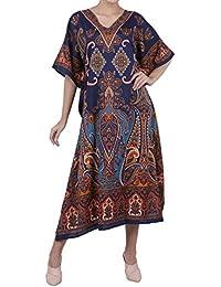 Miss Lavish London Frauen Damen Kaftan Tunika Kimono freie Größe Lange Maxi Party Kleid für Loungewear Urlaub Nachtwäsche Strand jeden Tag Kleider #102