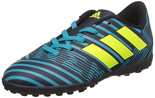 adidas Boys' Nemeziz 17.4 Tf J Footbal Shoes, Blue (Tinley/Amasol/Azuene), 1 UK
