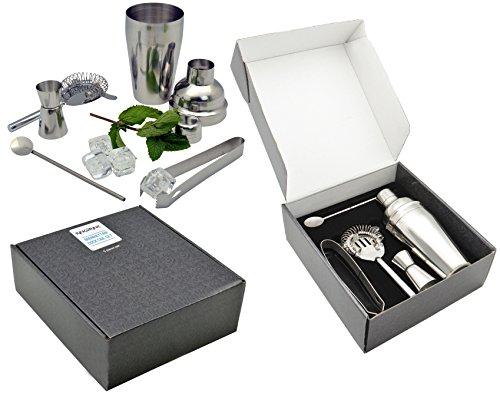 rink-drink-manhattan-5-piece-cocktail-drinks-set-shaker-measure-tongs-strainer-spoon