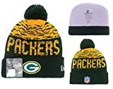 Green Bay Packers Unisex Heavyweight Cable Snow Star invierno adults Beanie unisex One Size Mujer Hombre
