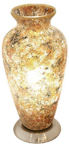 Mosaic Vase Lamp, Glass, Yellow
